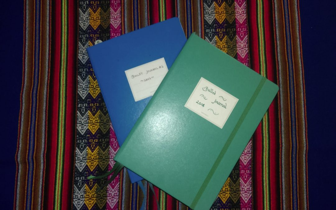 Zwei Bullet Journals